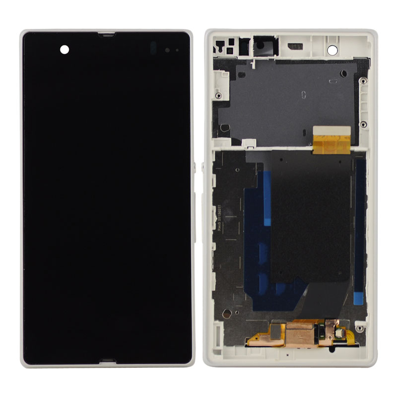 imágenes para Para Xperia Z L36h LCD C6606 C6603 C6602 C6601 C660x Pantalla LCD + Touch Panel de la Pantalla con marco vacío Envío gratis