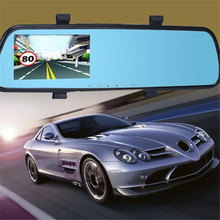 Full HD 1080P 2.4 Video Recorder Dash Cam Rearview Mirror Car Camera DVR G-Sensor GPS Dual Len Camera