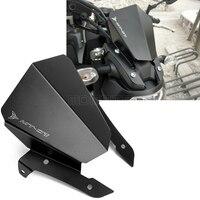Motocross MT 07 09 CNC Aluminum Motorcycle Accessories Motorbike Windshield Windscreen For Yamaha MT07 MT09 FZ09