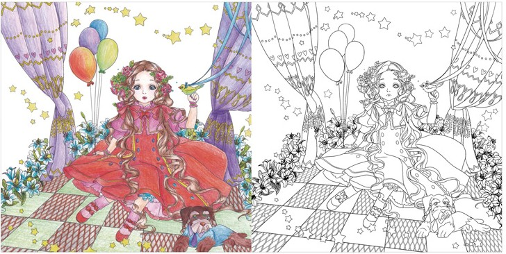 the wizard of oz 2 secret garden coloring book for adults children antistress coloring book kill time colouring painting books in books from office school - Wizard Of Oz Coloring Book