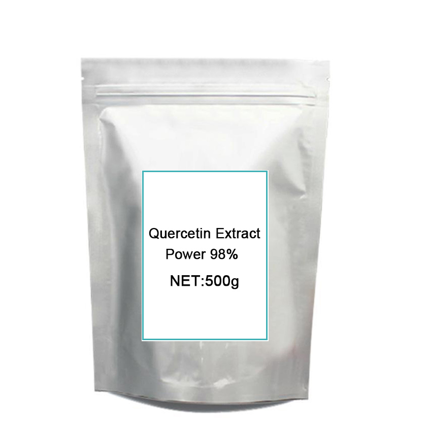 Top quality pure Quercetin Extract 98% UV/95% HPLC free shipping for 500gramsTop quality pure Quercetin Extract 98% UV/95% HPLC free shipping for 500grams