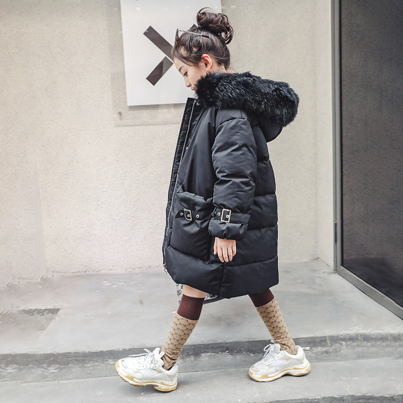 Winter Thick Warm Jackets For Girls 4 5 6 7 8 9 10 11 12 13 14 Year Teenager 2018 New Fashion Fur Collar Hooded Cotton Down Coat 2016 new fashion fur collar women coat sexy ladies wool sweater double breasted thick skirt cotton dress 3 colors size s 2xl page 4 page 5 page