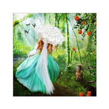 DIY 5D diamond painting landscape flower girl cross stitch mosaic embroidery rhinestone decorative jewelry