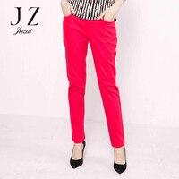 Новые весенние тонкий чистый цвет плавки модные 9 штанов женщин JUZUI