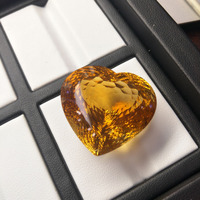 Tbj ,unique Natural citrine heart cut big size loose gemstone,top color new cutting,eyes catching brilliant cut for gold jewelry