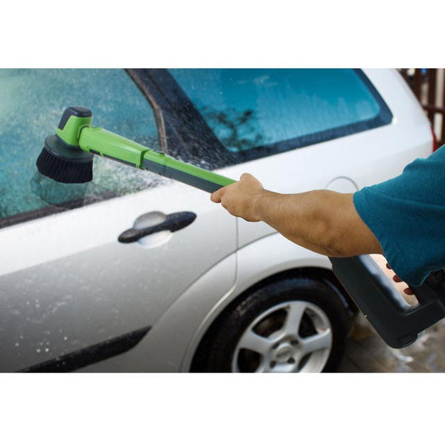 12v Electric Car Wash Machine Clean Polish Brush Cleaner With Telescopic Rod