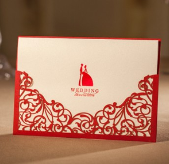 bronceado vestido de novia y el novio de la boda tarjeta de invitacin laser