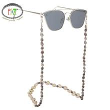 F.J4Z New Women Glasses Chains Summer Beach Nature Seashell Sunglasses Straps Cowrie Eyewea