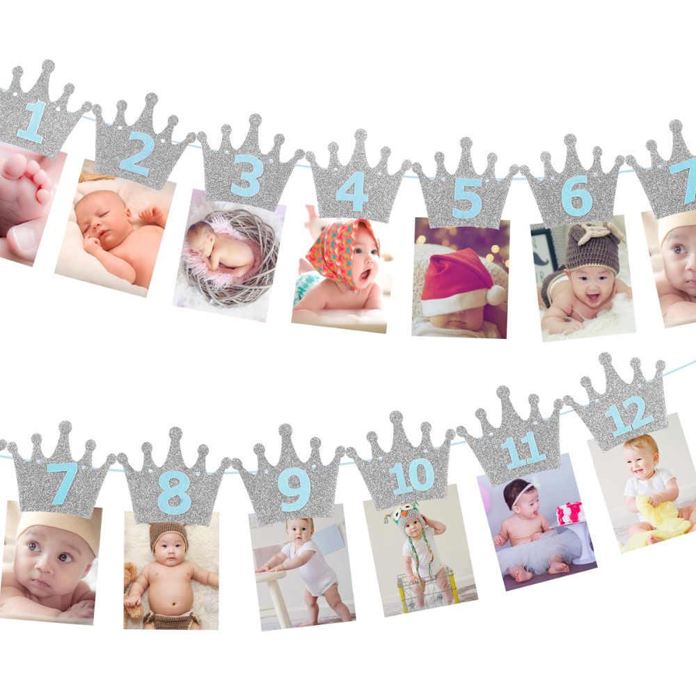 1st מסיבת יום הולדת דקור ילדים 1 2 3 יום הולדת שמח באנר 2 1 אחד שנה יום הולדת מסיבת ראשון יום הולדת ילד ילדה תינוק מקלחת דקור