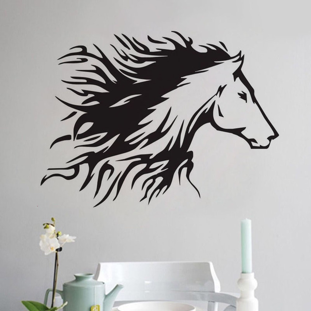 Head Of Horse Wall Stickers Home Decoration Accessories Vinyl Art Wall  Decals Animals Painting For Wall