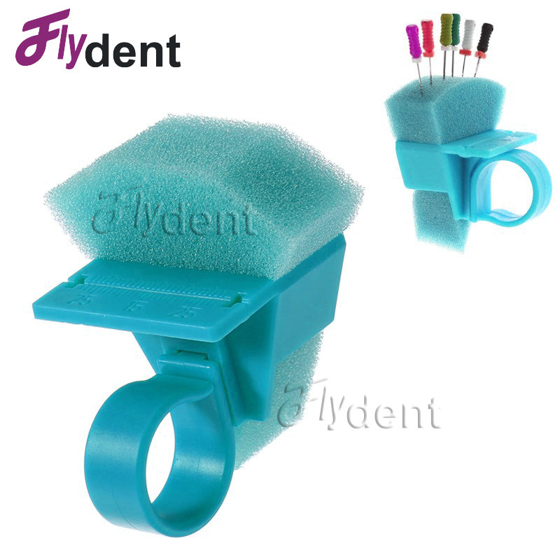 Dental Autoclavable Endo Cleaner Finger Ring Autoclavable Platic Endo Stand Cleaning Foam Sponges File Holder Cleaning