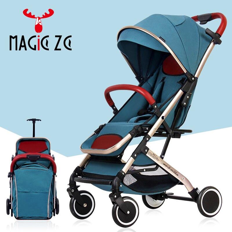 Bébé poussette 2 en 1 bébé poussette landau léger pliable bébé voiture peut s'asseoir peut mentir voyage landau enfants poussette