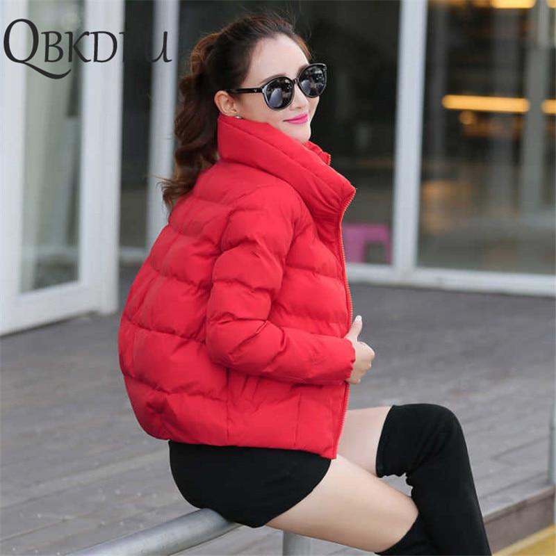 Women Short Jacket Parkas Mujer 2019 Winter Warm Jacket Coat Fashion Autumn Solid Warm Thicken Padded Down Parka Female Outwear