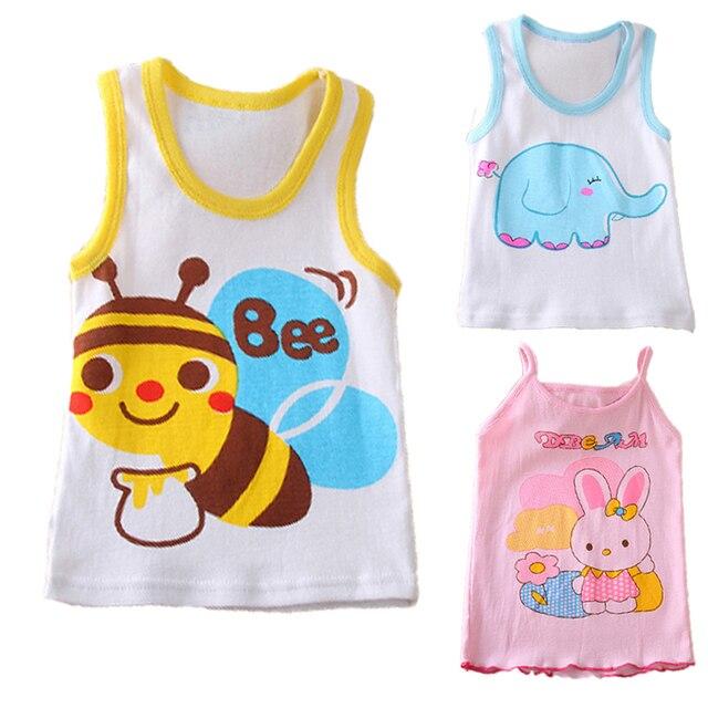 0f1eee9e2 Cotton Baby Vests Summer Baby Boy Clothes Fashion Children Vest Baby ...