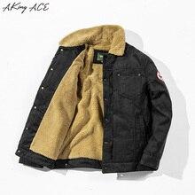 2017 AKing ACE Winter Military Pilot Jacket Coat Vintage Motorcycle Thermal Fleece Jacket Retro Clothing Tactical