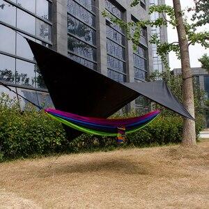 Image 2 - Waterproof hammock tarp rain fly 11*10 feet outdoor camping tent sun shelter for camping hammock outdoor furniture Acehmks