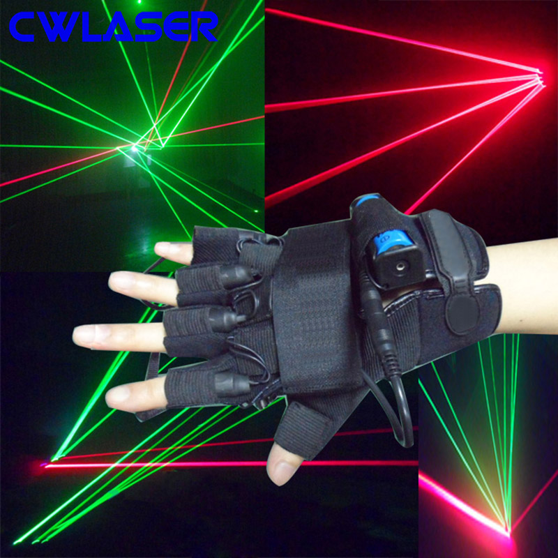 CWLASER Laser Gloves with 532nm Green / 650nm Red / 405nm Violet-Blue Finger Lights and LED Light in Palm (One Pair) sketches in lavender blue and green