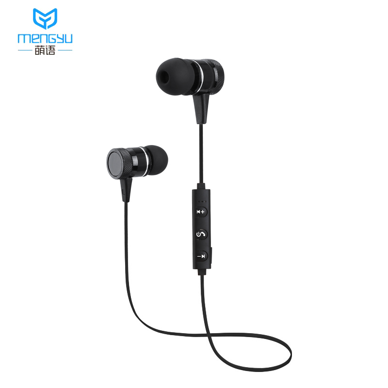 2018 Bluetooth Earphone Wireless Headset Headphones With Mic Stereo Magnetic Blutooth Earphones for Mobile Phone Sports 2017 meizu ep51 bluetooth waterproof sport earphone headset for phone computer wireless earphones apt x with mic stereo headsets