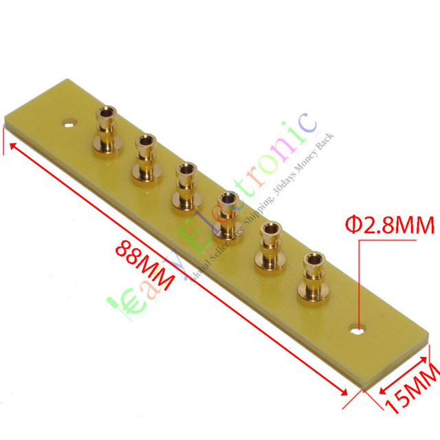 US $26 65 38% OFF|Wholesale and retail 20pc copper plated Gold Fiberglass  Turret Terminal Strip 6pin Lug Tag Board amps free shipping on