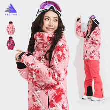 Ski Suits Women Thermal Warmth Waterproof Outdoor Snow Jacket Winter Sports Snowboard Skiing Snow Costumes Outdoor Wear free shipping new winter womens ski jacket sports outdoor female snow jacket snowboard wear ladies ski clothes mountaineering