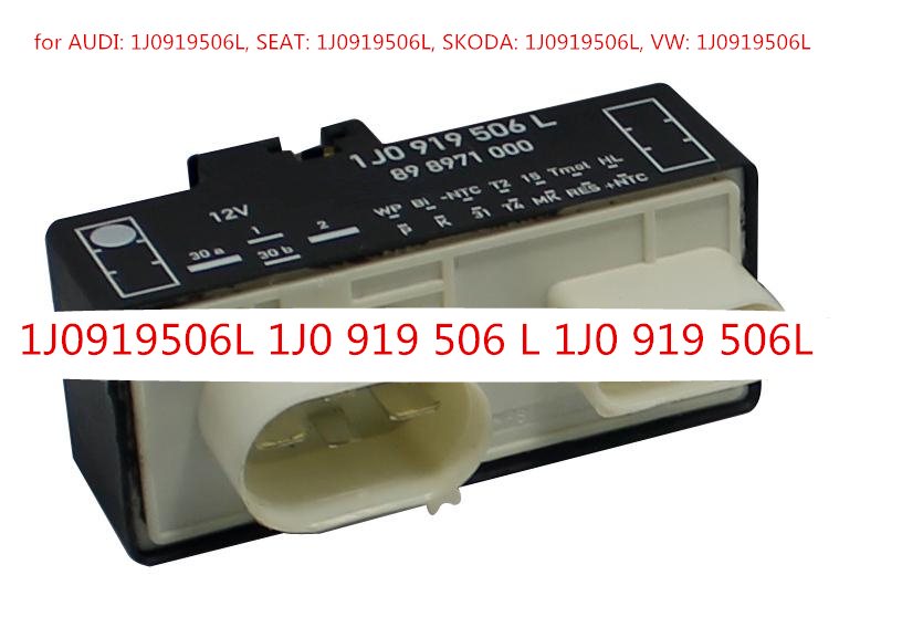 Free shipping Cooling Fan Control Switch Relay For VW Bora 1J0919506L 1J0 919 506 L 1J0