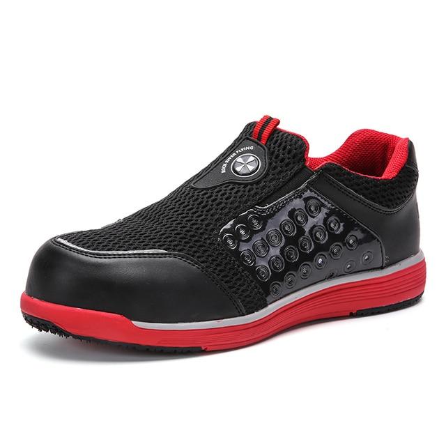 Erkek Çelik Burun Iş Güvenliği Ayakkabıları Rahat Nefes Açık Sneakers Delinme Geçirmez Çizmeler Rahat Endüstriyel Ayakkabı Erkekler için