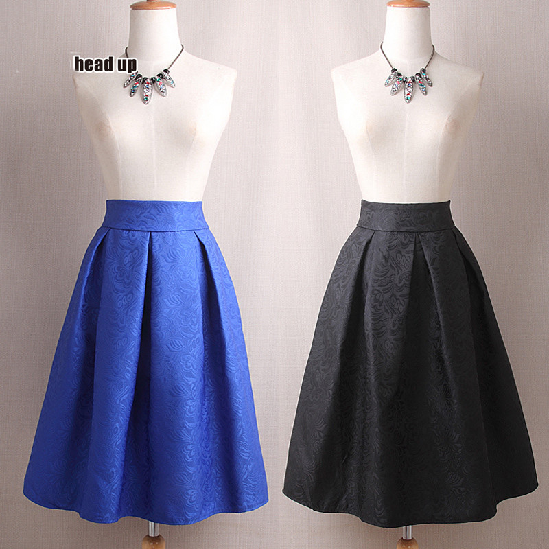 5 colours Sexy Women  Natural Waist Pleated skirt flower Printed Casual Knee-Length Skirt elegant skirt big size bubble skirt