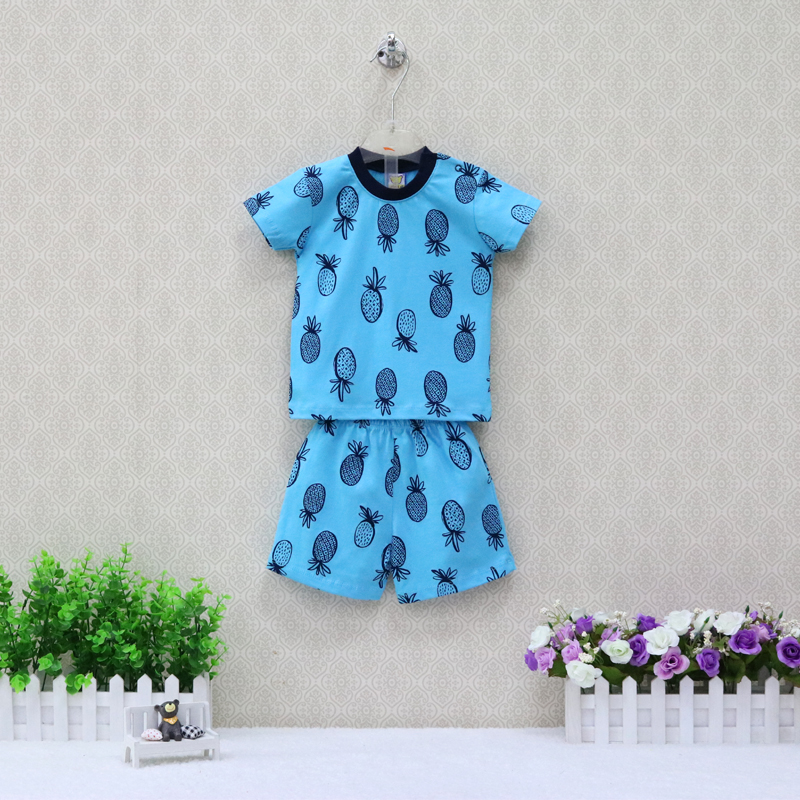 Boys Summer Pure Cotton Short Sleeve T Shirts+Shorts 2 Pieces Clothing Set Children Clothes 2018 Baby Clothes summer kids clothes sets boys girls short sleeve t shirts plaid shorts skirts children school uniform performance clothes