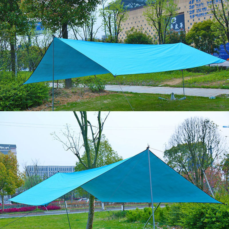 1pc Polyester Cloth Awning Camping Cloth Waterproof Camping Travel Moisture Proof Cloth Shade Sail Home Garden Accessories