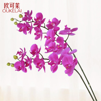High simulation PU, thick, rubber 9 butterfly orchid, modern simplicity, fresh decoration, fake flowers, flower bouquet