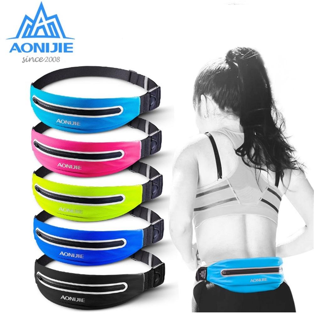 AONIJIE Unisex Waterproof Adjustable Running Belt Waist Bag For Men Women Travel Camping Cellphone Outdoor Waist Bag Belt Pouch