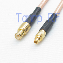 6in MMCX male to MCX male plug  RF adapter connector 15CM Pigtail coaxial jumper cable RG316 extension cable