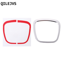 QILEJVS Car Steering Wheel Decorative Sticker Emblem Frame Cover For Audi A4 A5 Q5 A6 Q7
