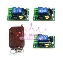 Бесплатная доставка AC 85 В ~ 250 В 110 В Широкий Напряжение Деревянный Пульт Дистанционного & Приемник rf-передатчик 433 мГц 220 В