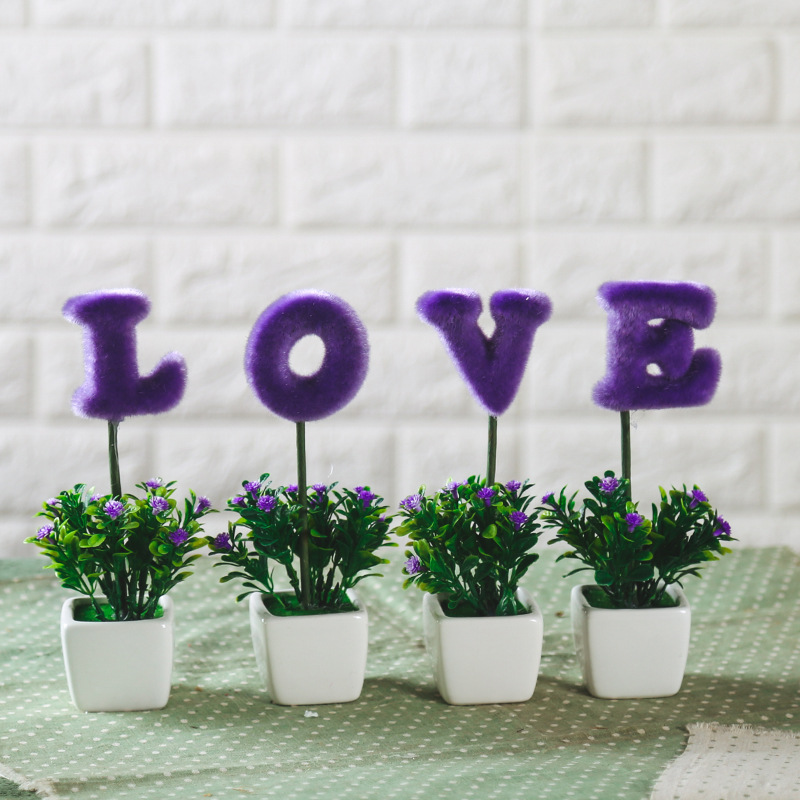 Home Decorations Artificial Flowers With Vase Wedding