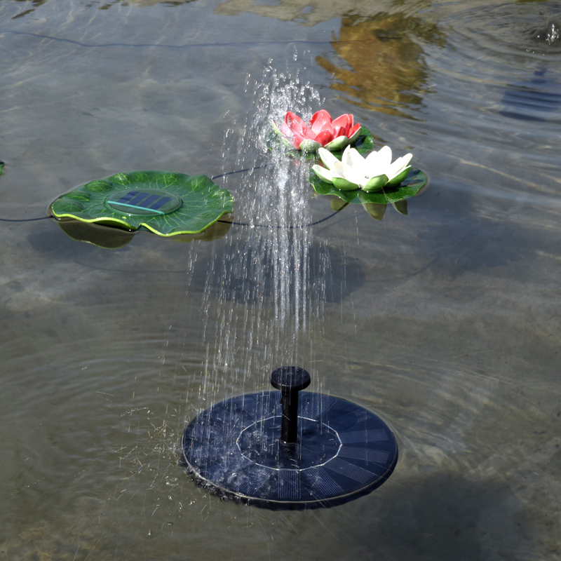 Image 2 - Hot Sale New Arrival 7V Floating Water Pump Solar Panel Garden Plants Watering Power Fountain Pool Garde Decoration-in Fountains & Bird Baths from Home & Garden