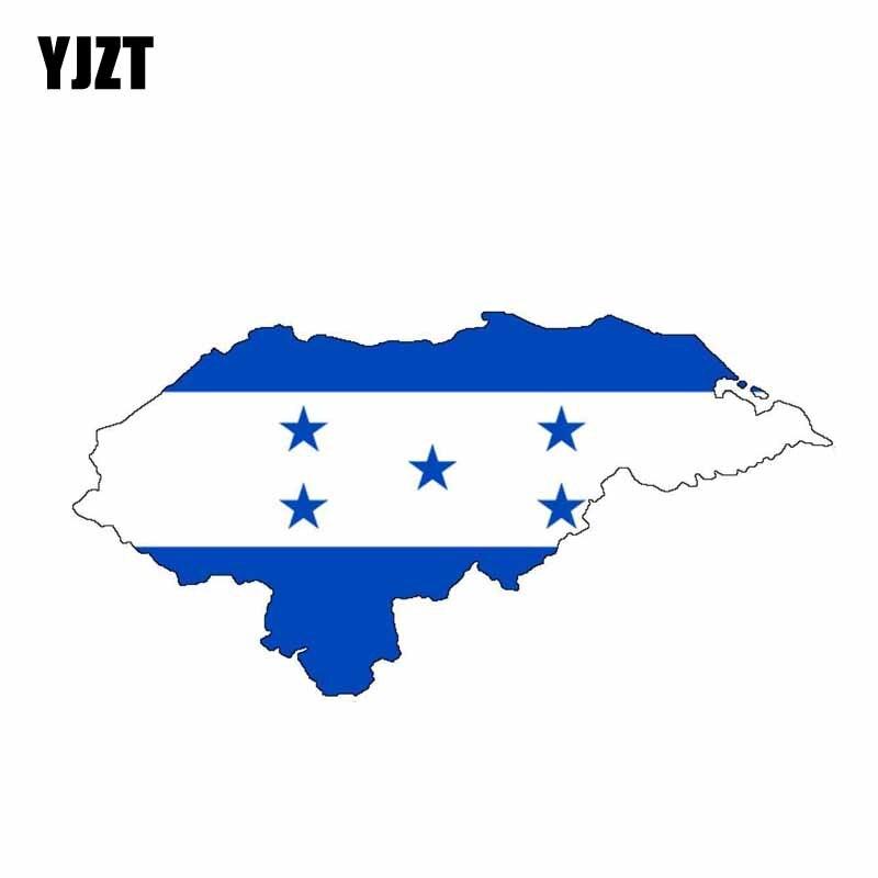YJZT 15,8 CM * 8CM Honduras de la motocicleta mapa divertida Calcomanía para auto accesorios de la bandera etiqueta engomada del coche de 6-0858