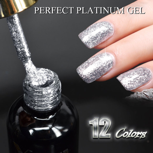 VENALISA Super Color Gel Paints Crystal Lacquer CANNI Nail Art Glitter Pearl Diamonds Soak off Platinum UV LED Gel Nail Polish 3