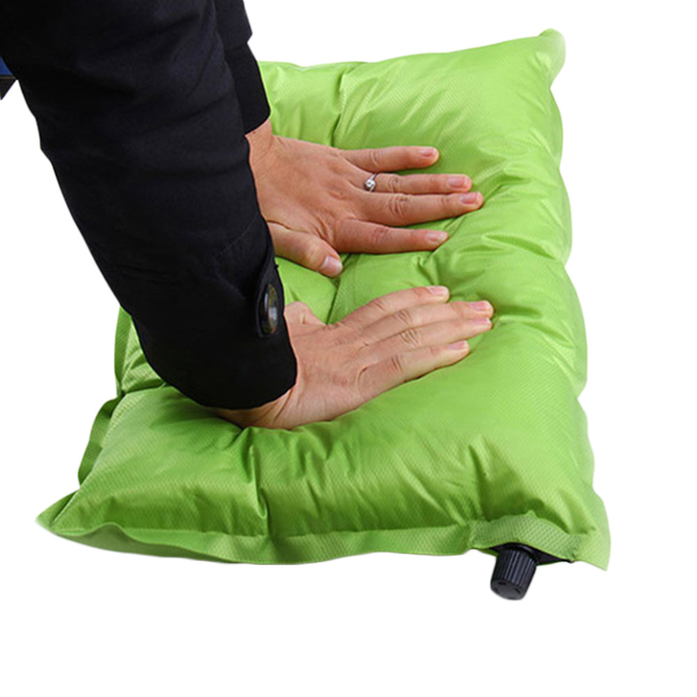 Automatic Inflatable Pillow Air Cushion for Hiking Backpacking Travel 47x30x8cm Popular New