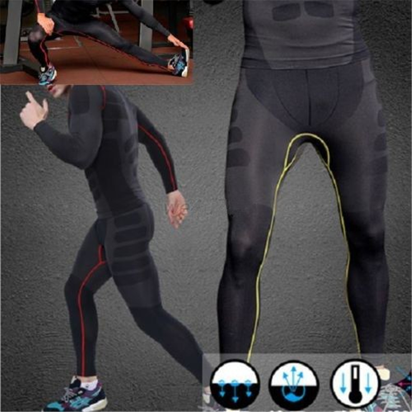 Leggings 2019 Hottest Mens Compression Pants Male Base Layers Bodybuliding Skinny Tights Pants Quickly Dry Anti-bacteria Trousers At Any Cost Men's Clothing