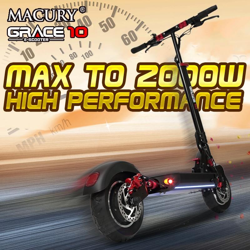 Macury GRACE10 scooter électrique GRACE 10 hoverboard planche à roulettes 2 roues 10 pouces 52V1000W adulte zéro 10 mini pliable ZERO10 - 2