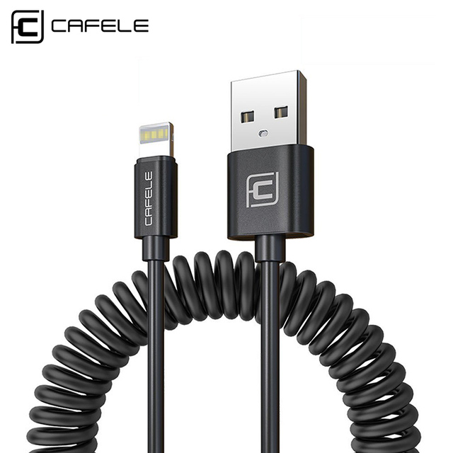 Cafele USB Cable for iPhone X Xr Xs Max 8 7 6s Plus 1.6m Flexible Noodles USB Charging Cable Charging Cord Black