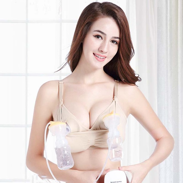 482ceb73897c8 Nursing bra Maternity Hands free pump bra breast feeding pumping Cotton  underwear hands-free breastfeeding