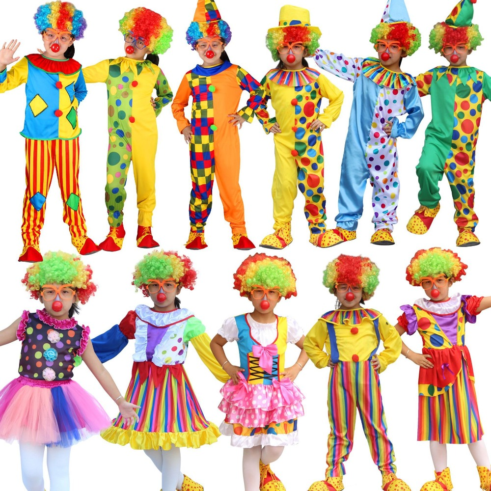 Variety Funny Clown Costumes Christmas Adult Boy Girl ...
