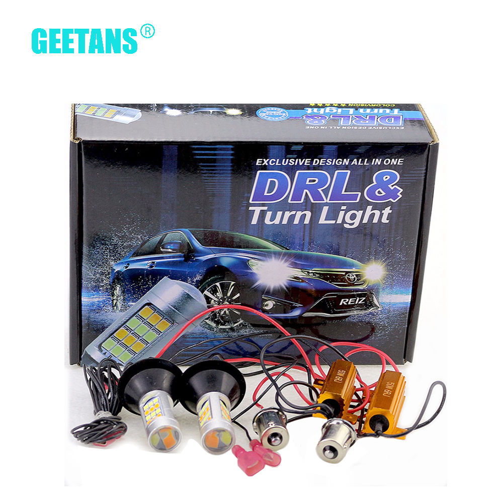 2pcs/lot T20 S25 1156 42 led light Daytime Running Light+Turn Signal Dual Mode DRL LED Light External Lights High Power CJ карабин edelweiss edelweiss o3 oval triple action gate