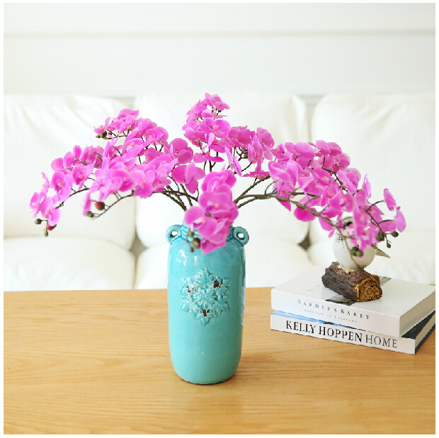 Wholesale Flowers For Weddings Events: Wholesale 100pcs/Lot Phalaenopsis Flower Real Touch Orchid