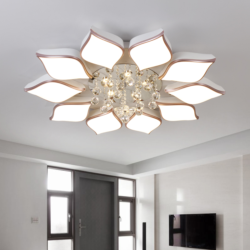 Remote Controlling Crystal Ceiling Chandelier Modern
