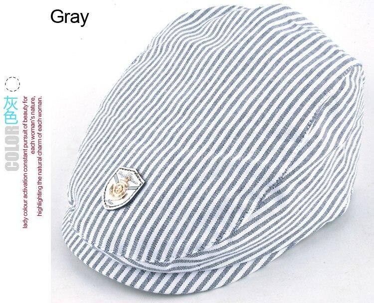 ᐃUnisex raya del algodón Beret niños Cap niños boinas sombrero del ...