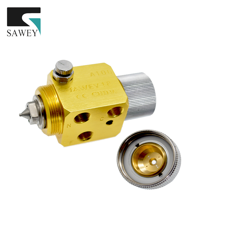 A-100 SAWEY  automatic air paint spray gun for plastic machine, nozzle 0.5/1.0/1.3/2.0mm FREE SHIPPING by UPS  plastic spray head nozzle for water spray gun