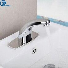 Poiqihy в простом стиле датчик кран на бортике одно отверстие ванной смеситель